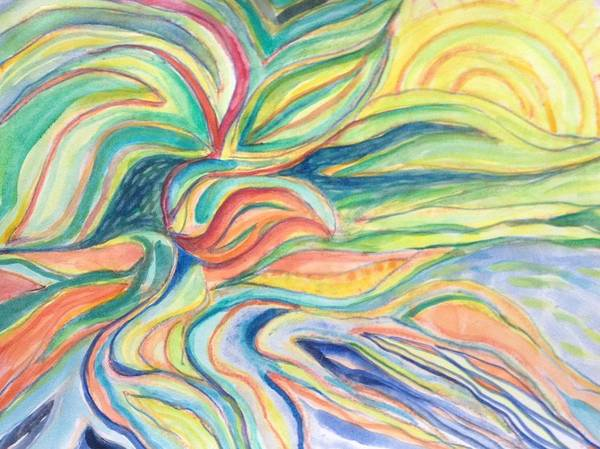 Painting - Start Of A New Day by Gerda Lederer