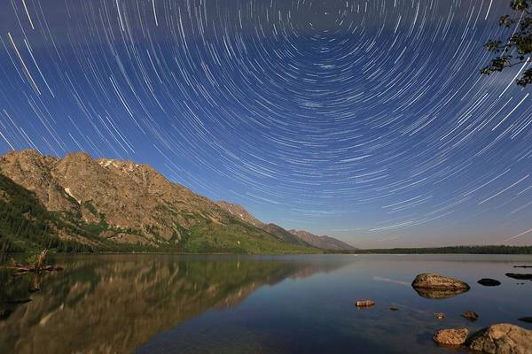 Photograph - Startrails Over Jenny Lake by M C Hood