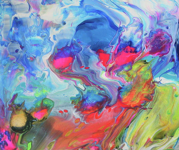 Poured Acrylic Wall Art - Painting - Starty Anywhere Now by Dolores Baker