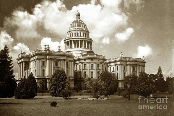 Photograph -  State Capitol, Rear View, Sacramento, Cal. Circa 1907 by California Views Archives Mr Pat Hathaway Archives