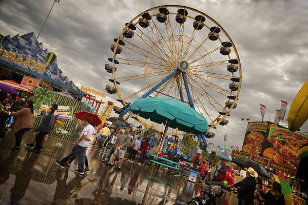 Carnival Rides Wall Art - Photograph - State Fair Of Oklahoma II by Ricky Barnard