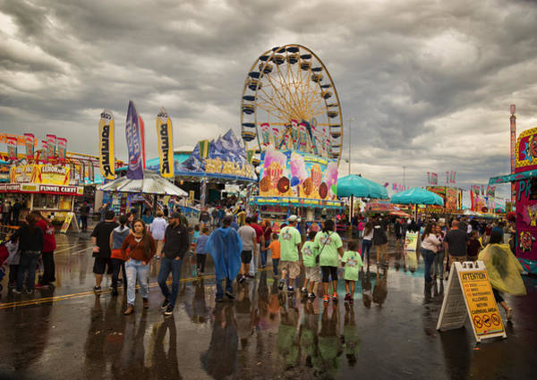 Midway Photograph - State Fair Of Oklahoma by Ricky Barnard
