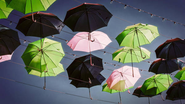 Photograph - Umbrellas Graphic by Joan Carroll