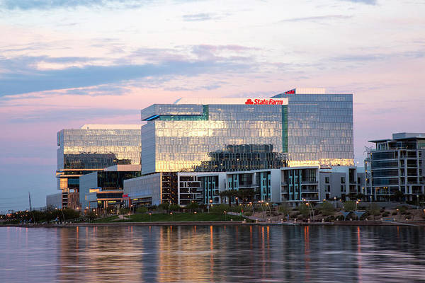 Photograph - State Farm At Tempe Town Lake by Dave Dilli