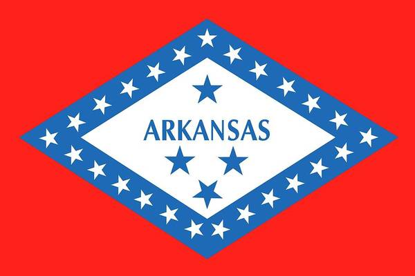 Southern Pride Wall Art - Painting - State Flag Of Arkansas by American School