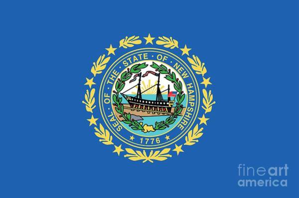 Painting - State Flag Of New Hampshire by American School