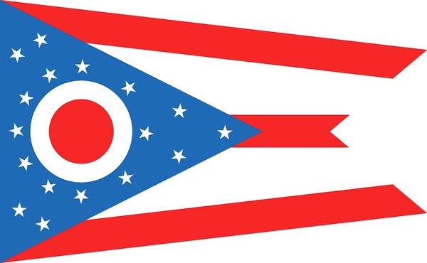 Painting - State Flag Of Ohio by American School