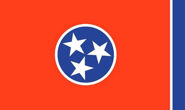 Painting - State Flag Of Tennessee by American School