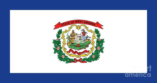 Painting - State Flag Of West Virginia by American School