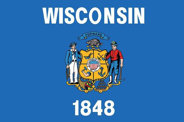 Painting - State Flag Of Wisconsin by American School