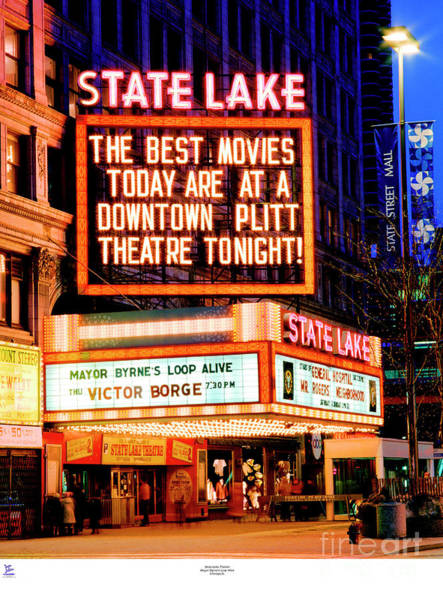 State-lake Theater Art Print