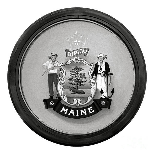 Photograph - State Of Maine Seal by Olivier Le Queinec