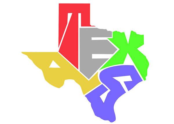 Tx Wall Art - Digital Art - State Of Texas Typography by Ricky Barnard