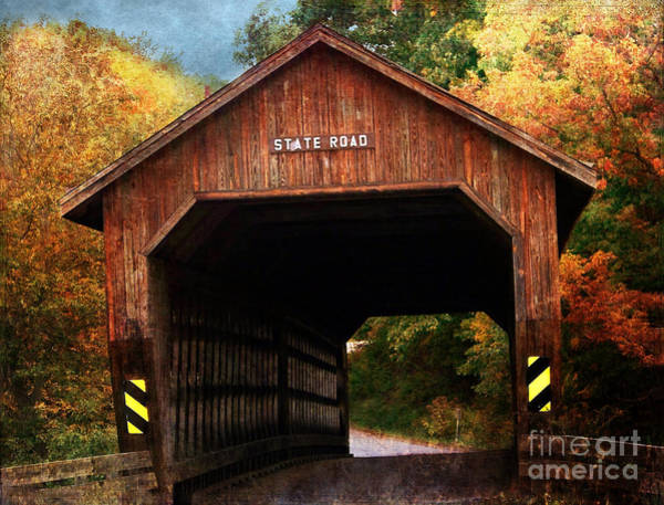 Photograph - State Road Covered Bridge by Gena Weiser