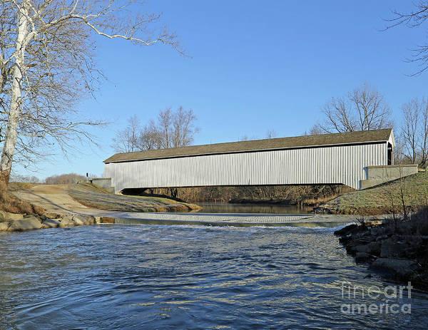Rockville Photograph - State Sanatorium Covered Bridge, Indiana by Steve Gass