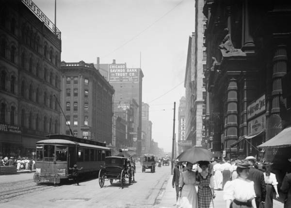Wall Art - Photograph - State Street 2 - Chicago 1900 by Daniel Hagerman