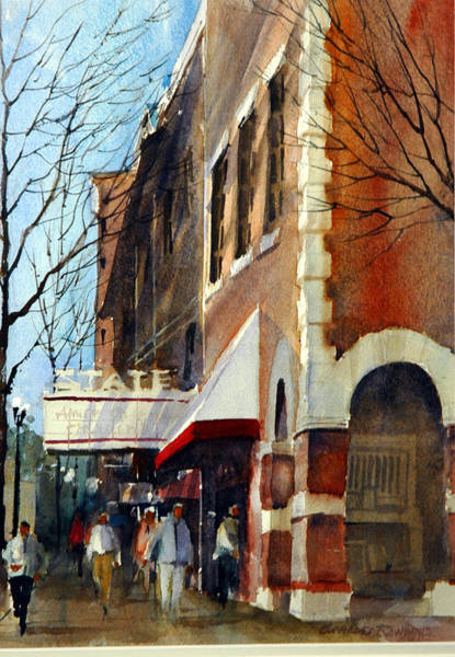 Painting - State Theater, Westerville, Ohio by Charles Rowland
