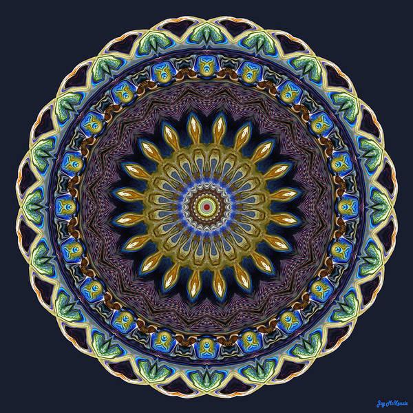 Psychedelia Digital Art - Stately Rose Window by Joy McKenzie