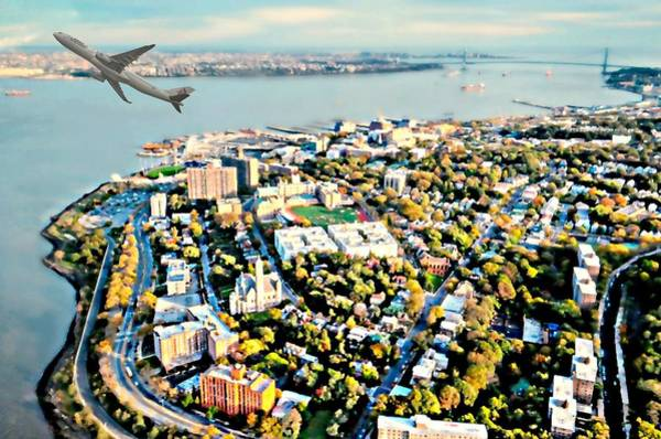 Wall Art - Photograph - Staten Island Aerial View by Diana Angstadt