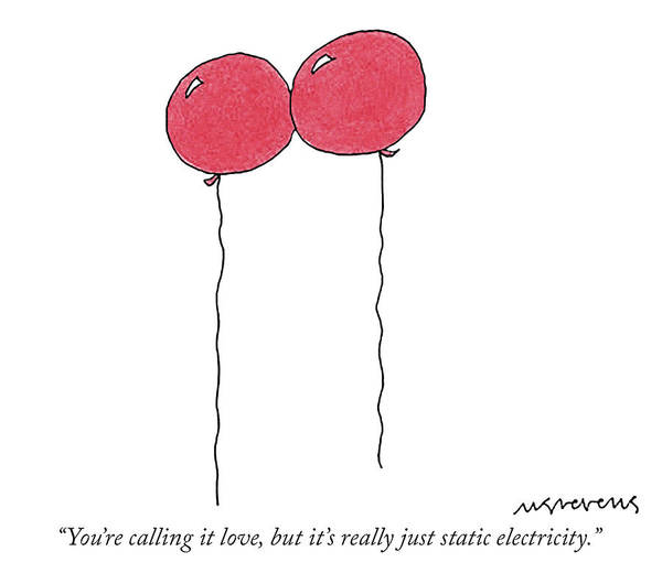 Stuck Drawing - Static Electricity by Mick Stevens