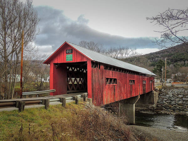Photograph - Station Covered Bridge by Robert Mitchell