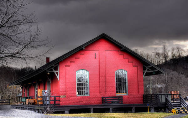 Railroad Station Photograph - Station House by Todd Hostetter