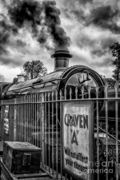 Loco Wall Art - Photograph - Station Sign by Adrian Evans