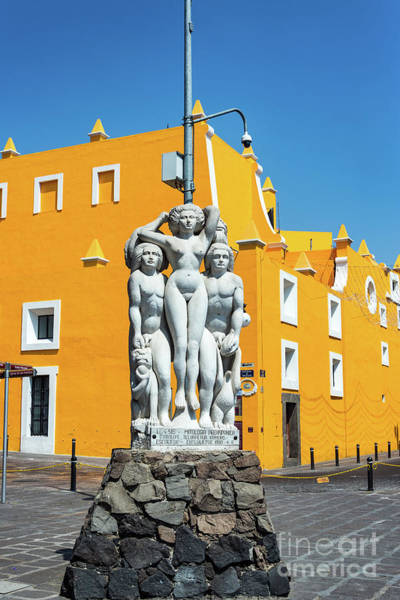 Wall Art - Photograph - Statue And Yellow Theater by Jess Kraft