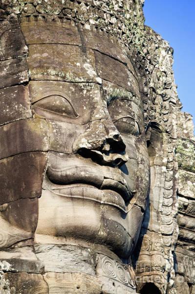 Adorn Photograph - Statue At Angkor Thom II by Bill Brennan - Printscapes