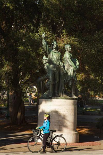 Photograph - Statue At Washington Square Park by Bonnie Follett