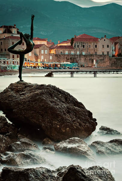 Stari Grad Photograph - Statue In Budva Montenegro by Sophie McAulay