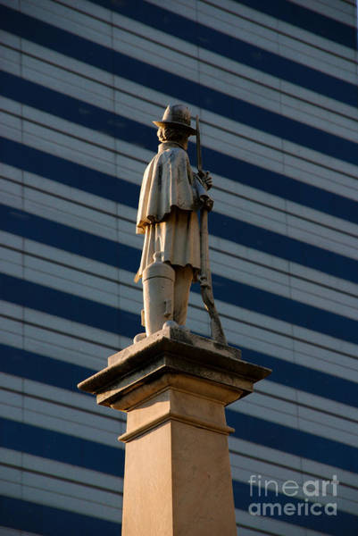 Photograph - Statue Of A Soldier In Columbia South Carolina by Susanne Van Hulst