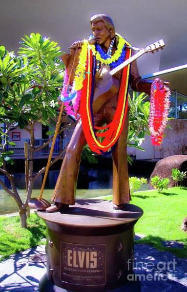 Wall Art - Photograph - Statue Of, Elvis Presley - Honolulu, Hawaii  by D Davila