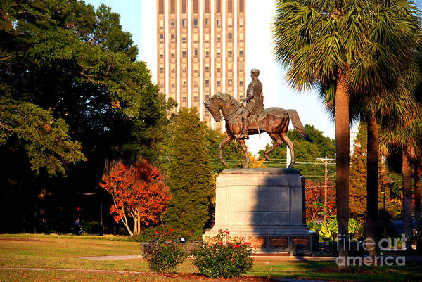 Photograph - Statue Of Gov Wade Hampton In Columbia South Carolina by Susanne Van Hulst