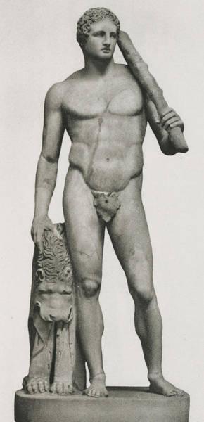 Lion Statue Wall Art - Sculpture - Statue Of Hercules by Roman School