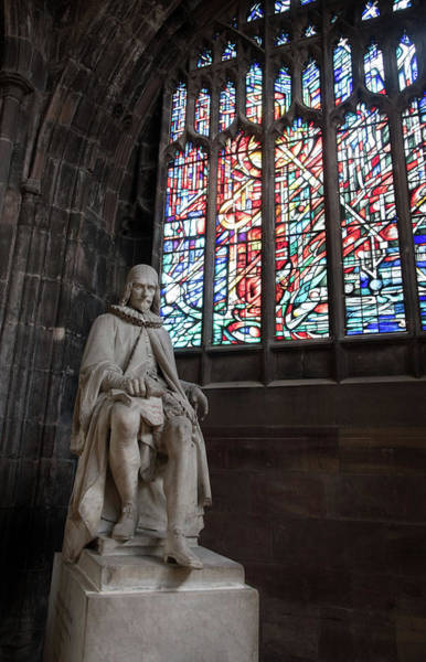 Greater Manchester Wall Art - Photograph - Statue Of Humphrey Chetham, Manchester Cathedral by Michalakis Ppalis