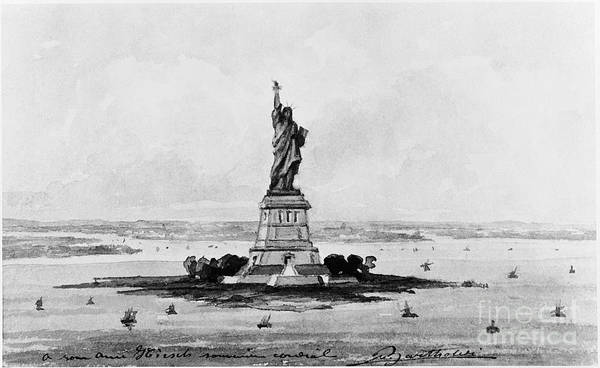 Photograph - Statue Of Liberty, C1886 by Granger