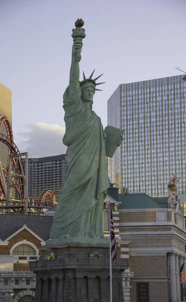 Wall Art - Photograph - Statue Of Liberty In Las Vegas Nevada by Keith Mucha