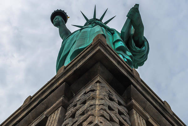 Photograph - Statue Of Liberty Looking Up by Terry DeLuco
