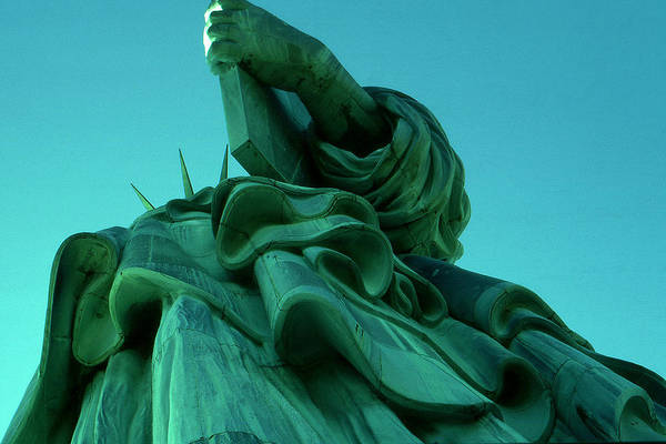Photograph - New York City - Statue Of Liberty Down Under by Peter Potter
