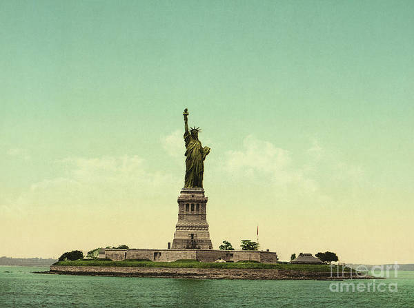 Statue Wall Art - Photograph - Statue Of Liberty, New York Harbor by Unknown