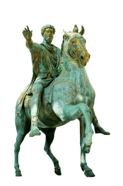 Photograph - Statue Of Marcus Aurelius by Fabrizio Troiani