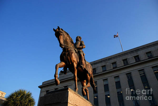 Photograph - Statue Of The Governor Wade Hampton In Columbia South Carolina by Susanne Van Hulst