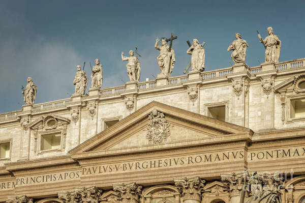 Wall Art - Photograph - Statues Of St Peter's Basilica by Louise Poggianti
