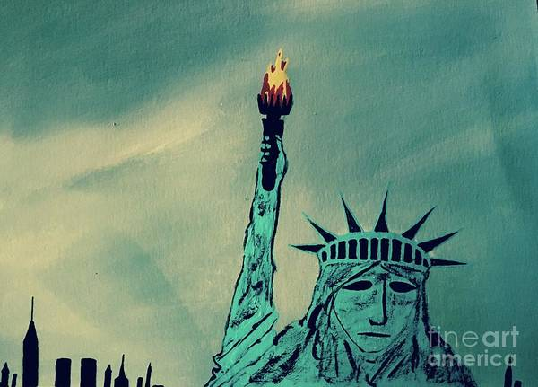 Wall Art - Painting - Statue Of Liberty by Jeffrey Koss