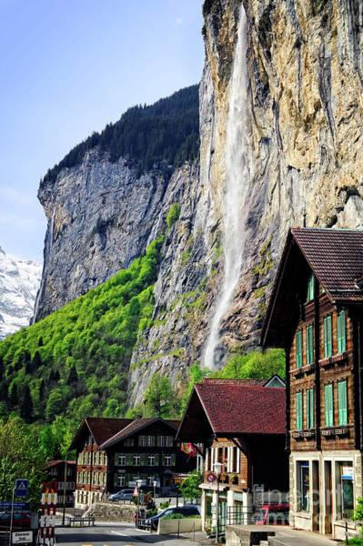 Photograph - Staubbach Waterfall by Scott Kemper