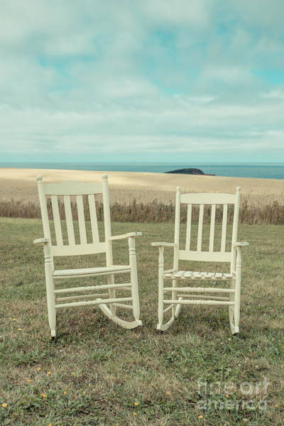 Rocking Chair Wall Art - Photograph - Stay Awhile Prince Edward Island by Edward Fielding