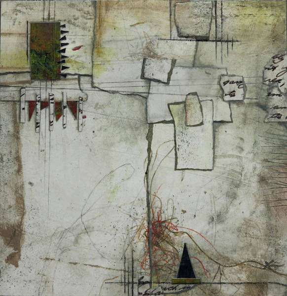Triangle Mixed Media - Staying Focused II by Laura Lein-Svencner