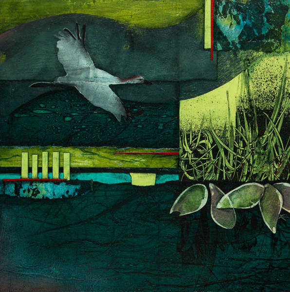 Lime Mixed Media - Steady Your Course by Laura  Lein-Svencner