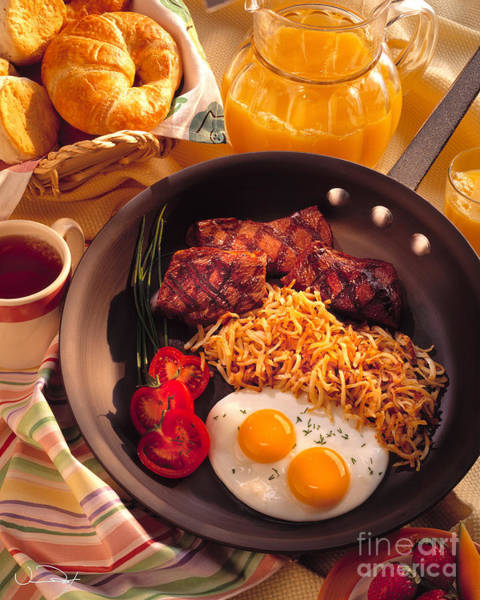Breakfast Photograph - Steak And Eggs Breakfast by Vance Fox